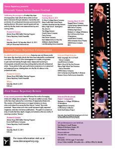 Dance Repertory Flier