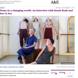 """Daily Californian – Interview """"Home in a changing world"""""""