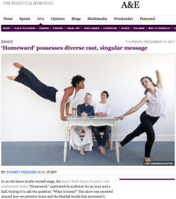 The Daily Californian – Dance Review 'Homeward' 2017