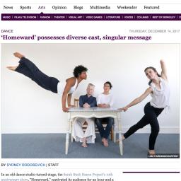 The Daily Californian – Dance Review 'Homeward' 2017