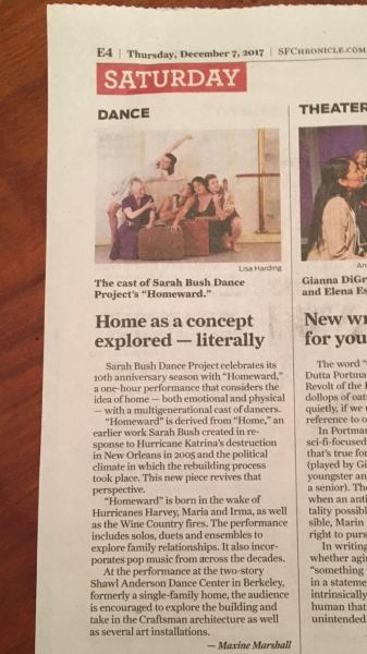 SBDP in SF Chronicle Up Front