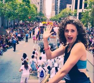 Sarah Bush at SF Pride