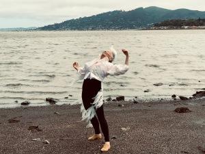 Joan Lazarus, egret, couture, Collen Quen, Richardson Bay